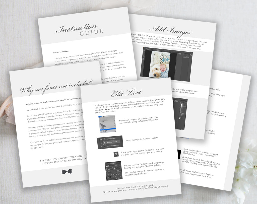 Photography Pricing Sheet Template Full Customizable Photoshop File Instant Download