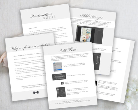 Photoshop Template Instruction Guide!