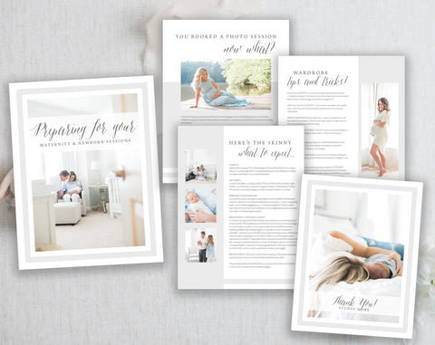 Maternity and Newborn Session Prep Guide Template. Instant Download. Maternity and Newborn Photography