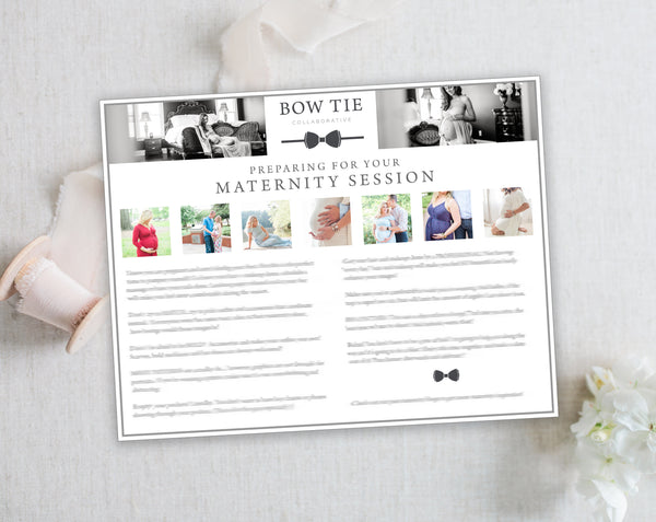 Maternity Client Prep Guide Template - Horizontal