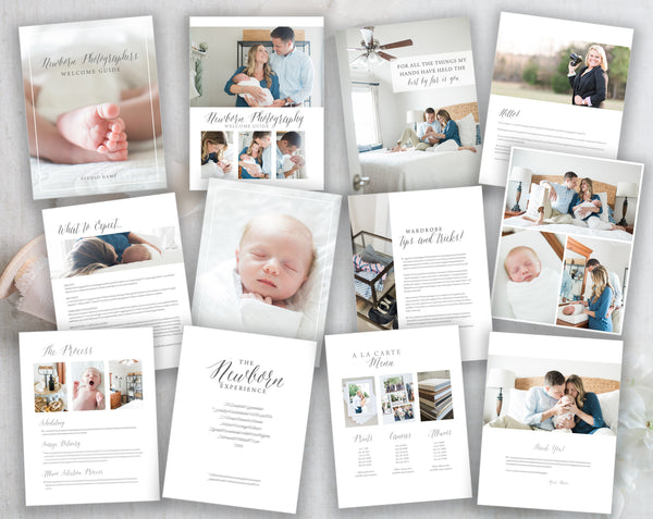 Newborn Photography Welcome Guide - Modern Gray
