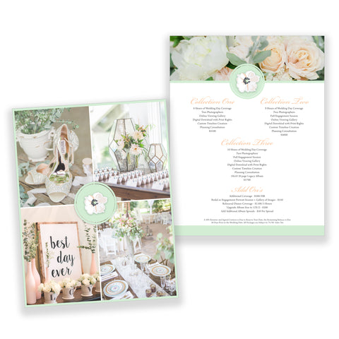 Wedding Marketing Pricing Guide Photoshop Template