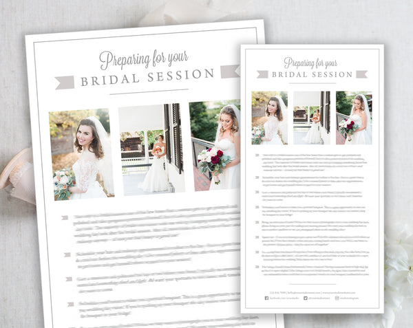 Bridal Client Prep Guide Template - Gray Tabs