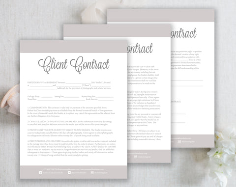 Photography Client Contract Forms