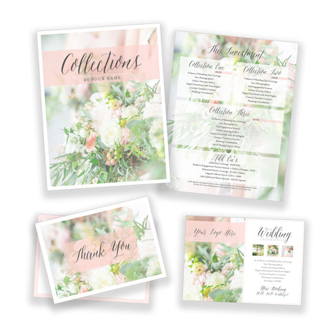 Classic Wedding Marketing Bundle - Customizable Template