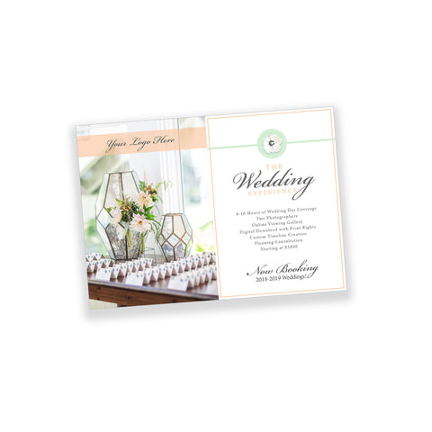 Floral Marketing Card Customizable Template