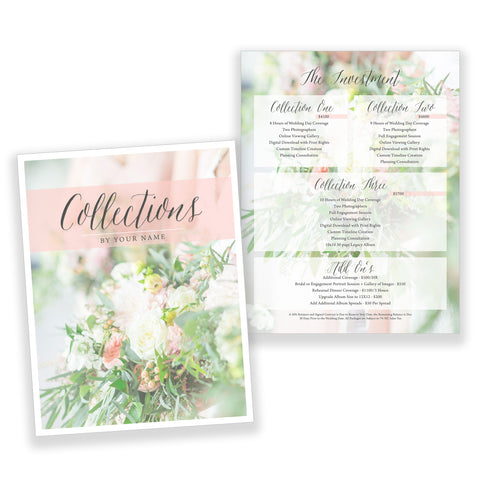 Classic Wedding Pricing Guide - Customizable Template