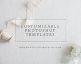 3 Photography Portrait Session Templates (Boudoir, Family and Senior)