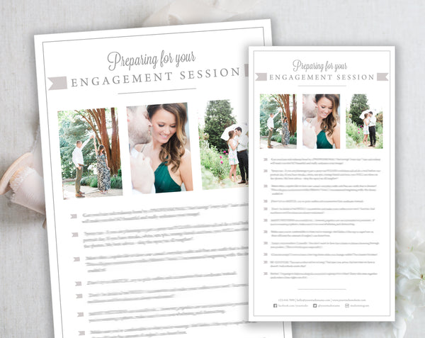 Engagement Client Prep Guide Template - Gray Tabs