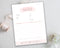 Photography Invoice - Pink Watercolor