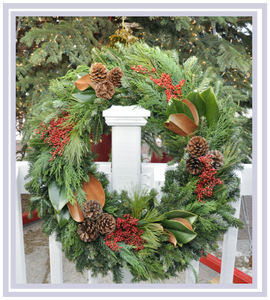 Wreath Holiday Elegance Round