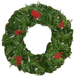Wreath Holiday Deluxe Round