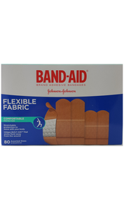 BAND-AID Flexible Fabric, 80 Assorted Sizes - Green Valley Pharmacy Ottawa Canada