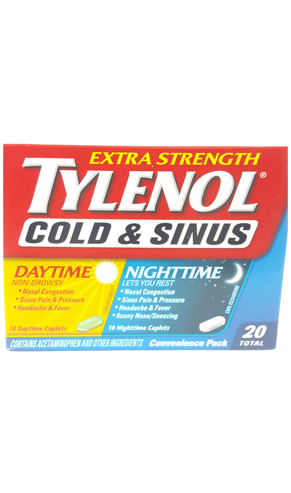 Tylenol Cold & Sinus Extra Strength,  Day & Night Convenience Pack - Green Valley Pharmacy Ottawa Canada