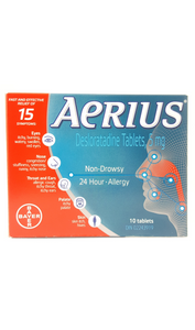 Aerius 5mg Tablets - Green Valley Pharmacy Ottawa Canada