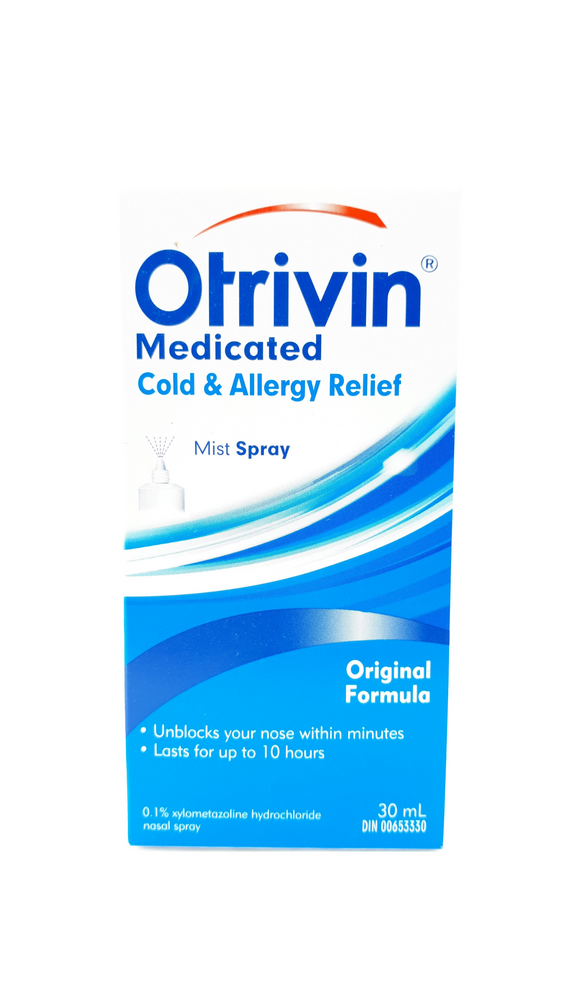 Otrivin Cold and Allergy Relief Original,  Mist Spray - Mobile Pharmacy Ottawa Canada