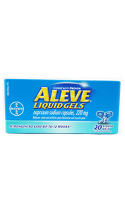 Aleve liquid gel capules, 220mg - Green Valley Pharmacy Ottawa Canada