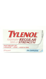 Tylenol Regular Strength 325mg, 24 Caplets - Green Valley Pharmacy Ottawa Canada