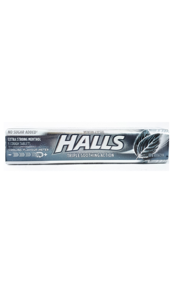 HALLS, 9 Extra Strong Menthol Lozenges - Green Valley Pharmacy Ottawa Canada