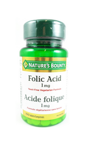 Nature's Bounty Folic Acid 1mg, 150 Tablets - Green Valley Pharmacy Ottawa Canada