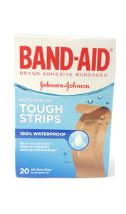 BAND-AID Waterproof Tough Strips, 20 All One Size - Green Valley Pharmacy Ottawa Canada