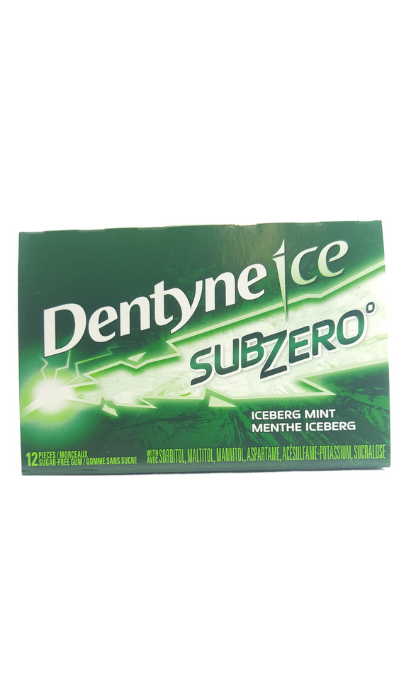Dentyne Ice SubZero Gum, 12 Pieces - Green Valley Pharmacy Ottawa Canada