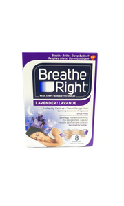 Breathe Right Lavender Scent, 8 Tan Nasal Strips - Green Valley Pharmacy Ottawa Canada