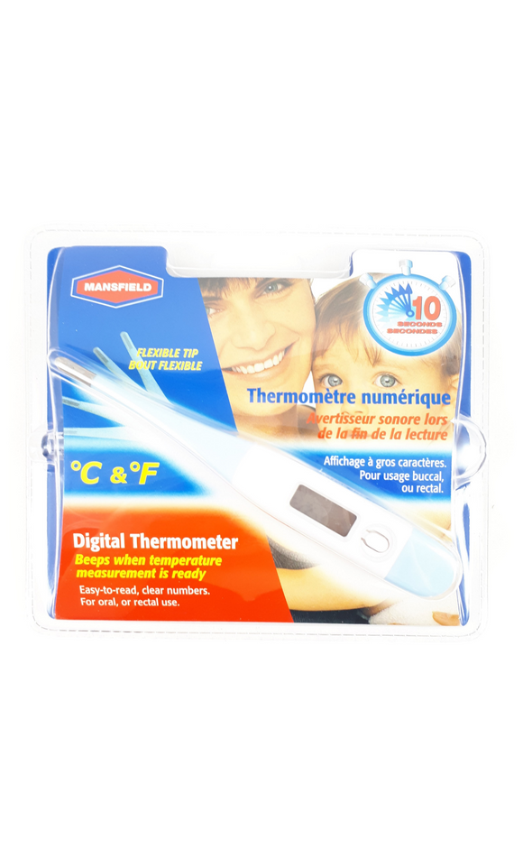 Mansfield flexible digital thermometer - Mobile Pharmacy Ottawa Canada