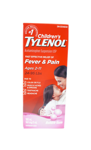 Tylenol for Children 2-11 Years, 100 mL Bubble Gum flavour - Green Valley Pharmacy Ottawa Canada