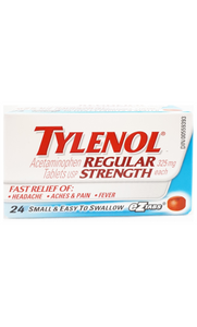 Tylenol Regular Strength eZtabs, 24 tablets - Green Valley Pharmacy Ottawa Canada