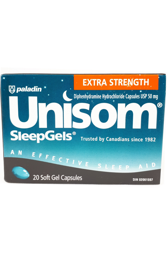 Unisom XS Sleep Gels, 20 gel capsules - Green Valley Pharmacy Ottawa Canada