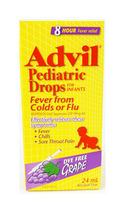 Advil Pediatric Drops Fever from Cold/Flu, Grape flavor, 24 mL - Green Valley Pharmacy Ottawa Canada