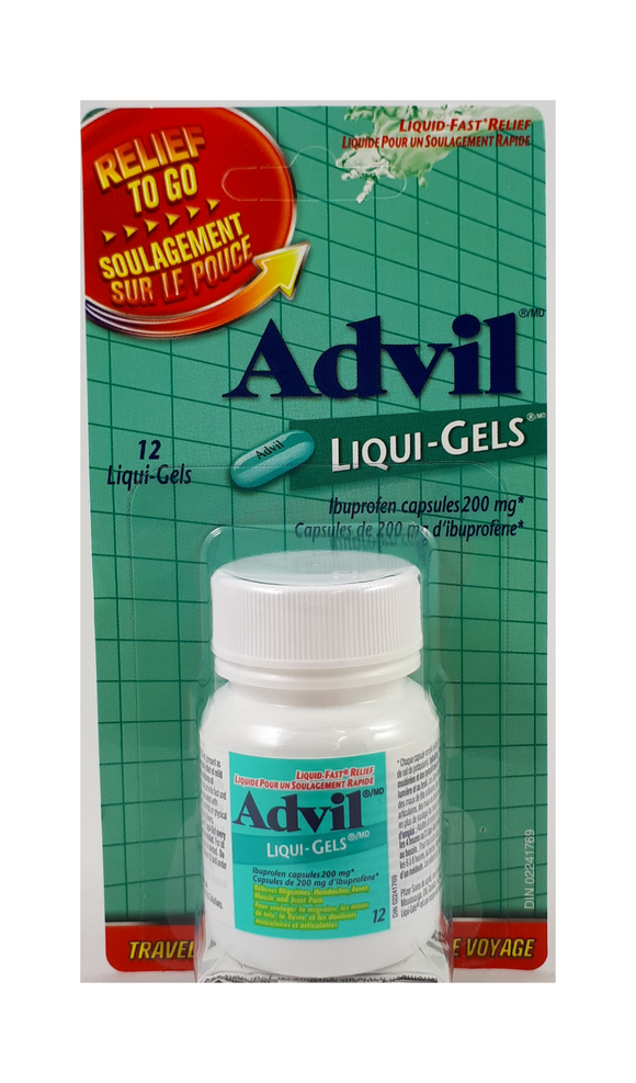 Advil liqiu-gels To-Go, 200mg, 12 gel caps - Green Valley Pharmacy Ottawa Canada