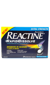 Reactine Rapid Dissolve XS, 24 dissolving tablets - Green Valley Pharmacy Ottawa Canada