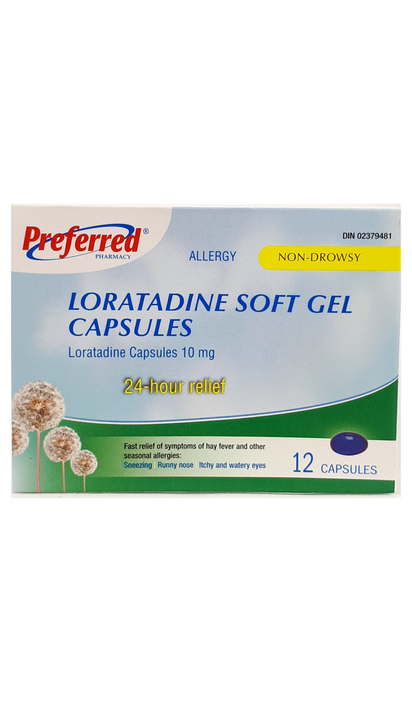 Loratidine Soft Gel Capsules, 10mg - Green Valley Pharmacy Ottawa Canada