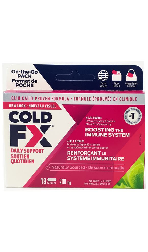 Cold FX daily immune support 200mg, 18 capsules - Green Valley Pharmacy Ottawa Canada