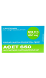 Acetaminophen Suppositories 650mg, 12 suppositories - Green Valley Pharmacy Ottawa Canada