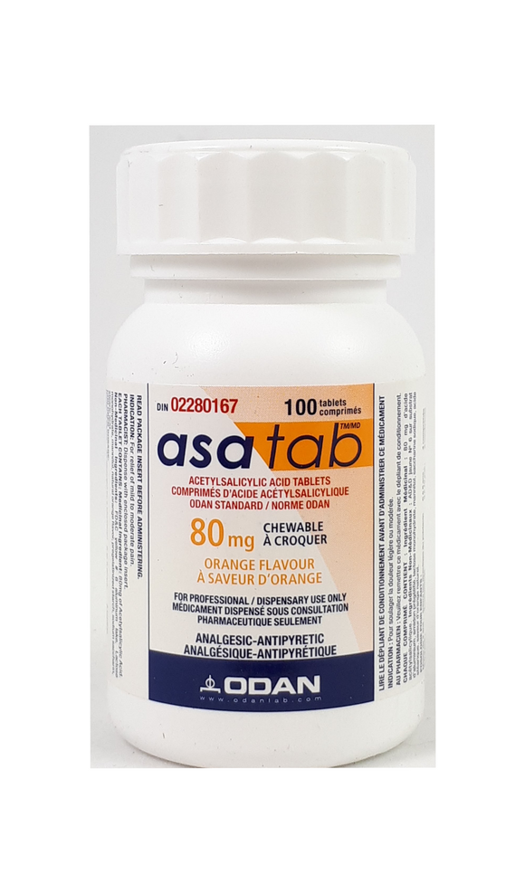 asatab, 80mg, Chewable, Orange Flavor, 100 tablets - Green Valley Pharmacy Ottawa Canada