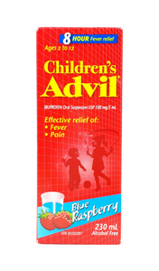 Advil Children's Age 2 to 12 Yrs, Blue Raspberry Flavor, 230 mL - Green Valley Pharmacy Ottawa Canada