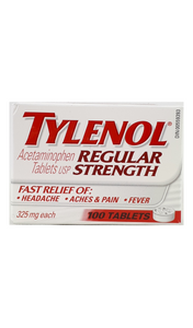 Tylenol Regular Strength, 325mg, 100 tablets - Green Valley Pharmacy Ottawa Canada