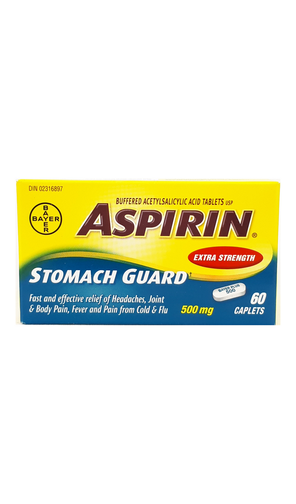 Aspirin Stomach Guard XS, 60 caplets - Green Valley Pharmacy Ottawa Canada