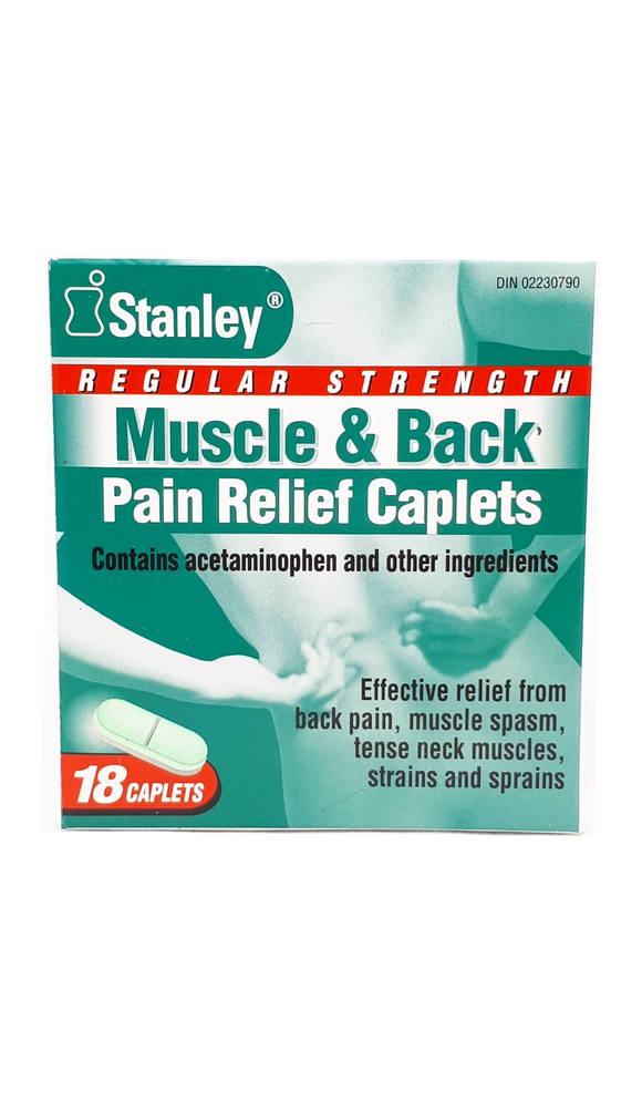Muscle & Back Pain Relief, Regular Strength Caplets - Green Valley Pharmacy Ottawa Canada