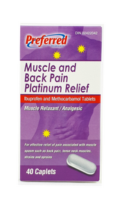 Muscle and Back Pain Platinum Relief, 40 caplets - Mobile Pharmacy Ottawa Canada