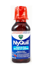 Vicks NyQuil Cold and Flu, 236 mL - Green Valley Pharmacy Ottawa Canada