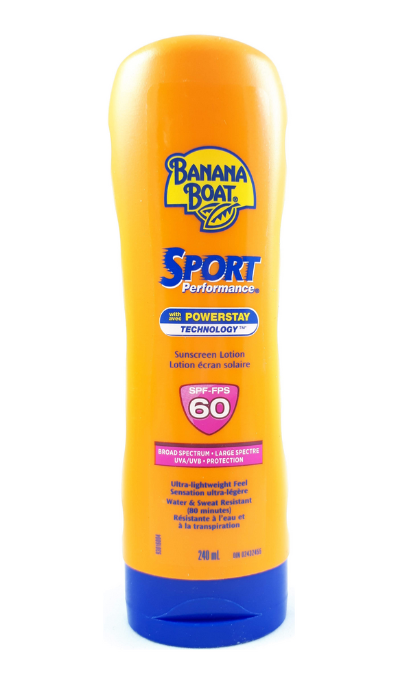 Banana Boat Sport Sunscreen, SPF 60, 240 mL - Green Valley Pharmacy Ottawa Canada