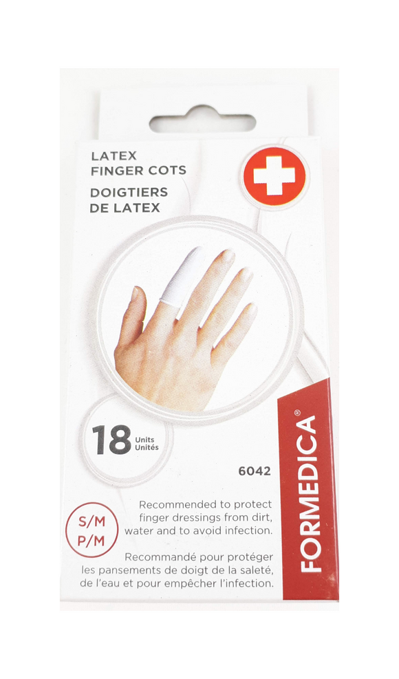 Latex Finger Cots S/M, 18 - Green Valley Pharmacy Ottawa Canada