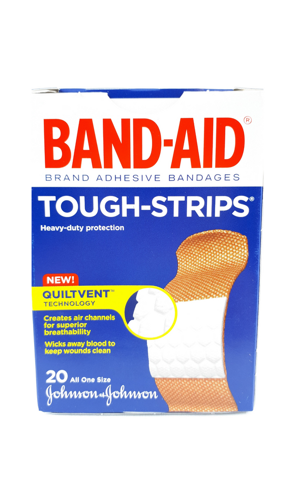 Band-Aid Tough Strips, 20 band-aids - Green Valley Pharmacy Ottawa Canada