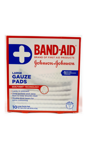 "Band-Aid Large Gauze Pads, 4""x4"" pads - Green Valley Pharmacy Ottawa Canada"