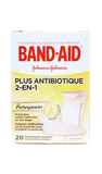 Band-Aid Plus Antibiotic 2-in-1, Assorted Sizes, 20 - Green Valley Pharmacy Ottawa Canada