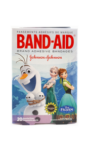 Band-Aid, Frozen Characters, Assorted Sizes, 20 Band-aids - Green Valley Pharmacy Ottawa Canada